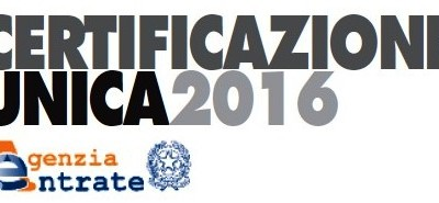 CU 2016 (Certificazione Unica dei Redditi) e modello 770 Semplificato 2016 (per anno 2015): ISTRUZIONI OPERATIVE